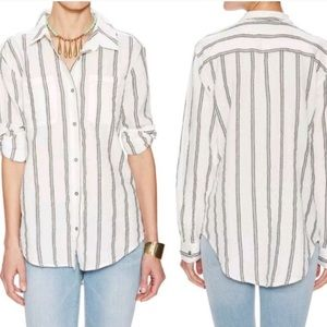 Free People   Ivory Comb Button Down